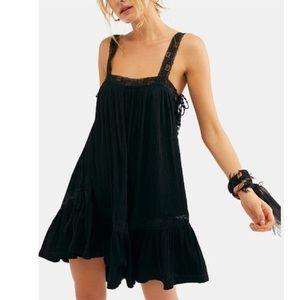 NWT Free People Black Mini Dress XS